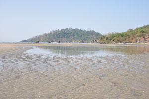Северная часть пляжа Палолем