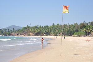 Поверхность пляжа состоит из очень мягкого песка