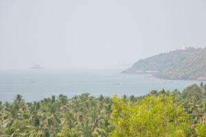 Место, где река Мандови впадает в Аравийское море