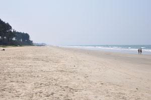Пляж Варка: вид на юг