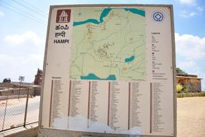 Информационное табло Хампи
