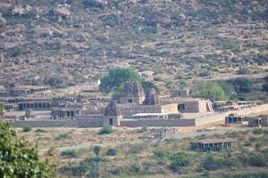 Храмовый комплекс Виттала, вид с храма Обезьяны