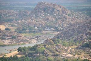 Храм Веерабхадра, вид с храма Обезьяны