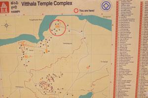 Храмовый комплекс Виттала, информационное табло