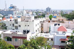 Хайдерабад крупным планом, вид с Бирла Мандир
