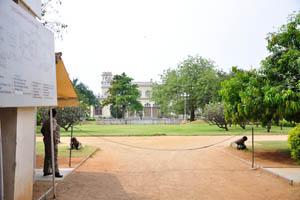 Вид на дворец Чоумахалла от его ворот