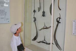 Мой сын интересуется различными типами мечей