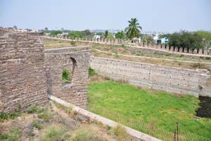 Зеленый газон форта