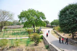 Пешеходная дорожка в нижней части форта
