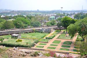 Граничащая стена форта в районе Нагина Багх