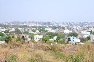 Вид на Хайдерабад из форта