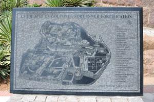 Карта внутренних сооружений форта