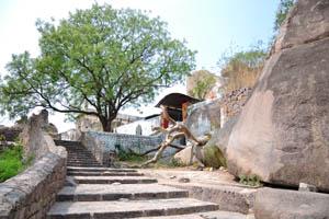 Последняя лестница перед самой высокой точкой крепости