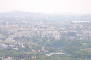 Хайдерабад, вид с самой высокой точки крепости