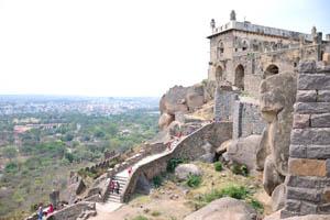 Форт с видом на город Хайдерабад