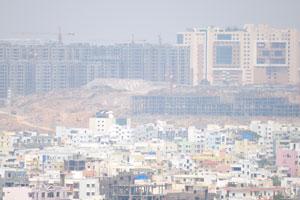 Можно увидеть строительство по всему Хайдерабаду