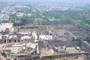 Вид с высоты птичьего полета на разделы форта