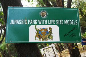 Парк Юрского периода с экспонатами в натуральную величину
