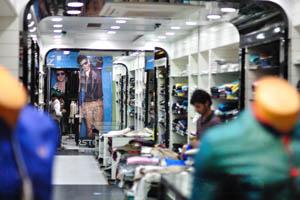Большой Базар: одной из внутренних магазинов одежды