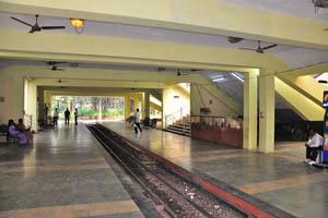 Небольшая железнодорожная станция