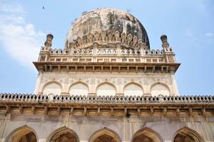 Гробница Абдуллы Кутб Шаха, крупным планом