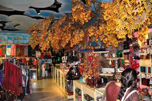 Филми Диния: сувенирный магазин украшают осенние листья