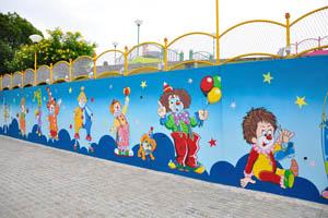 Фундустан: клоуны нарисованы на стене
