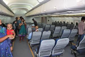 Внутри вымышленного самолёта