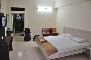 Отель Mandakini Jaya International, большой двойной номер за 1350 рупий