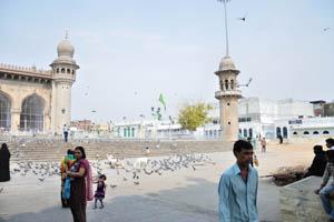 Внутренний двор мечети Мекка Масджид