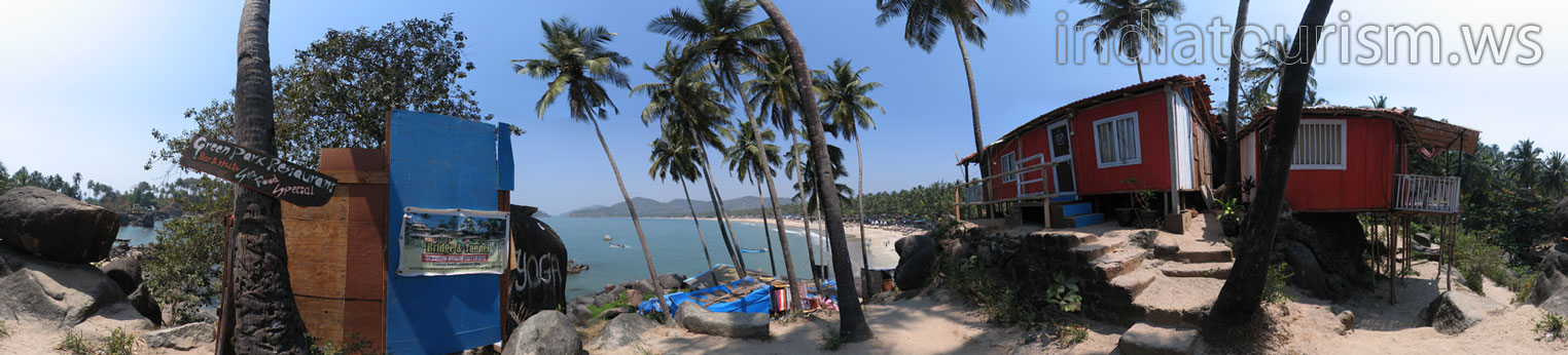 Southernmost tip of the Palolem beach