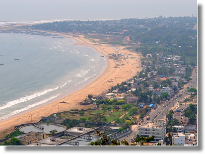 Visakhapatnam view from rope car