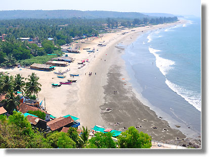 Arambol beach in North Goa