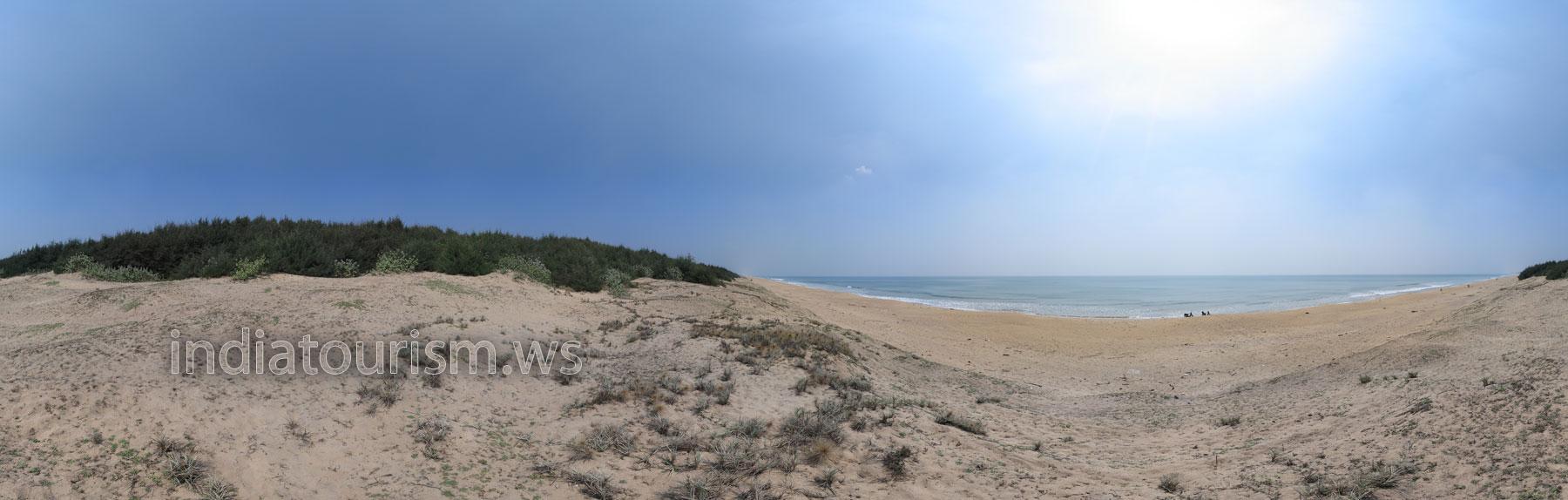 Пустой пляж - вид сверху