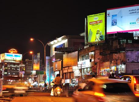 Late evening in Thiruvananthapuram