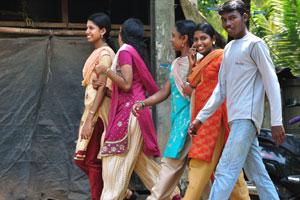 Индийские молодые подростки милые и модные