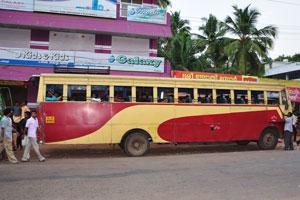 Городской автобус без стёкол
