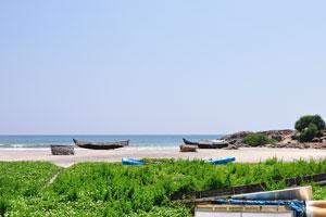 Северная часть пляжа Маяк