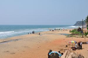Начало пляжа Папанасам