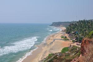 Варкала это единственное место в южной Керале, где утёсы находятся рядом с Аравийским морем