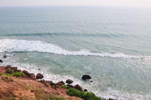Вид на Аравийское море с высокого утёса
