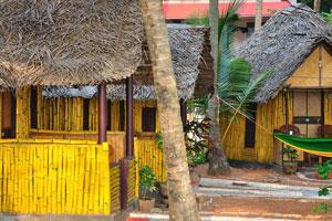 Бамбуковые бунгало с видом на море