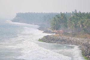 Вид на побережье в северном направлении с северного утёса