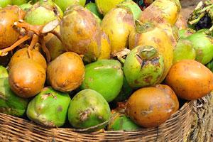 Торговые места с фруктами