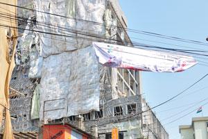 Восстановительные работы со зданием