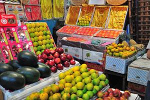 Внутри Нового рынка - фрукты