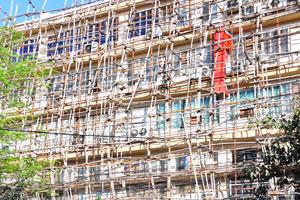 Реставрационные работы на улице Камак
