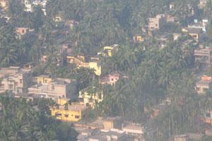 Перед посадкой в Калькутте, вид на город из окна