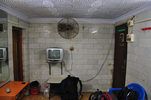Отель Классический. В нашем номере на улице Мирза Галиб были вентилятор и зеркало