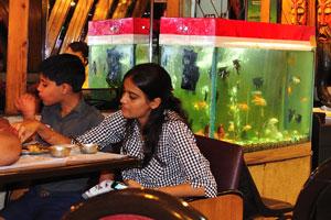 Этот вегетарианский ресторан возле станции метро Чандни Чоук